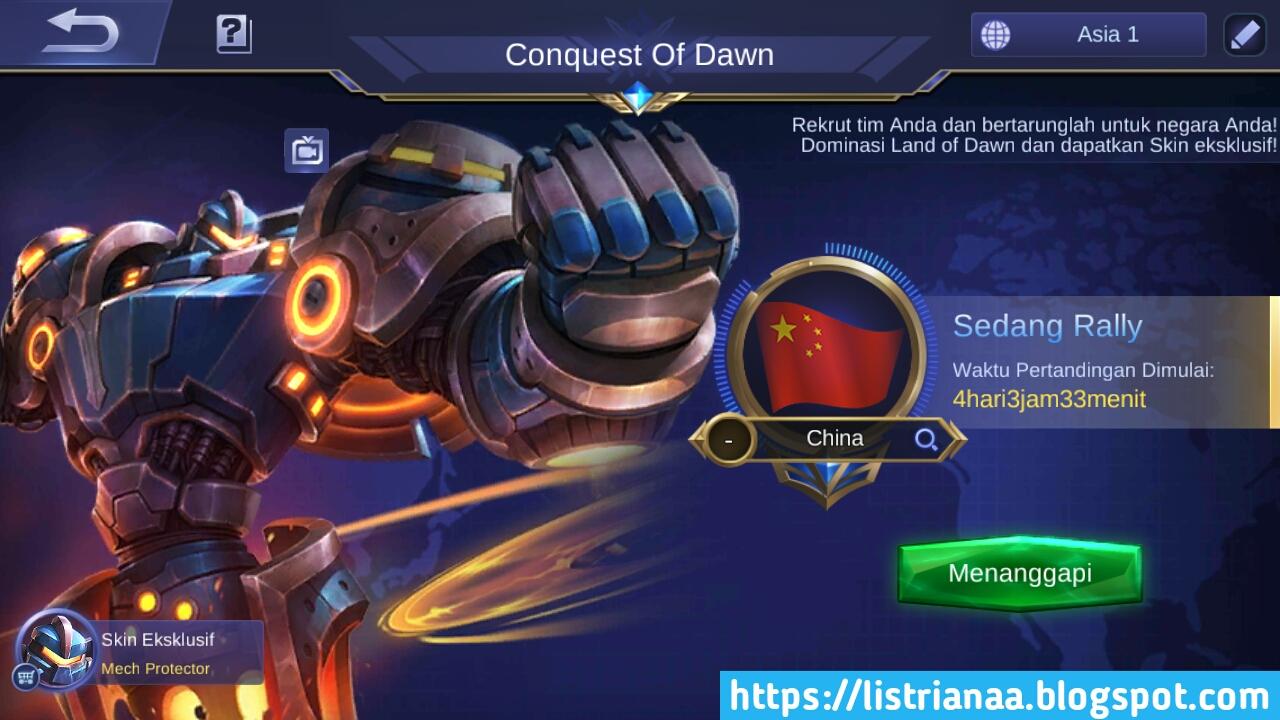 Tutorial Mendapatkan Skin Special Uranus Mech protector Gratis Mobile Legends 5