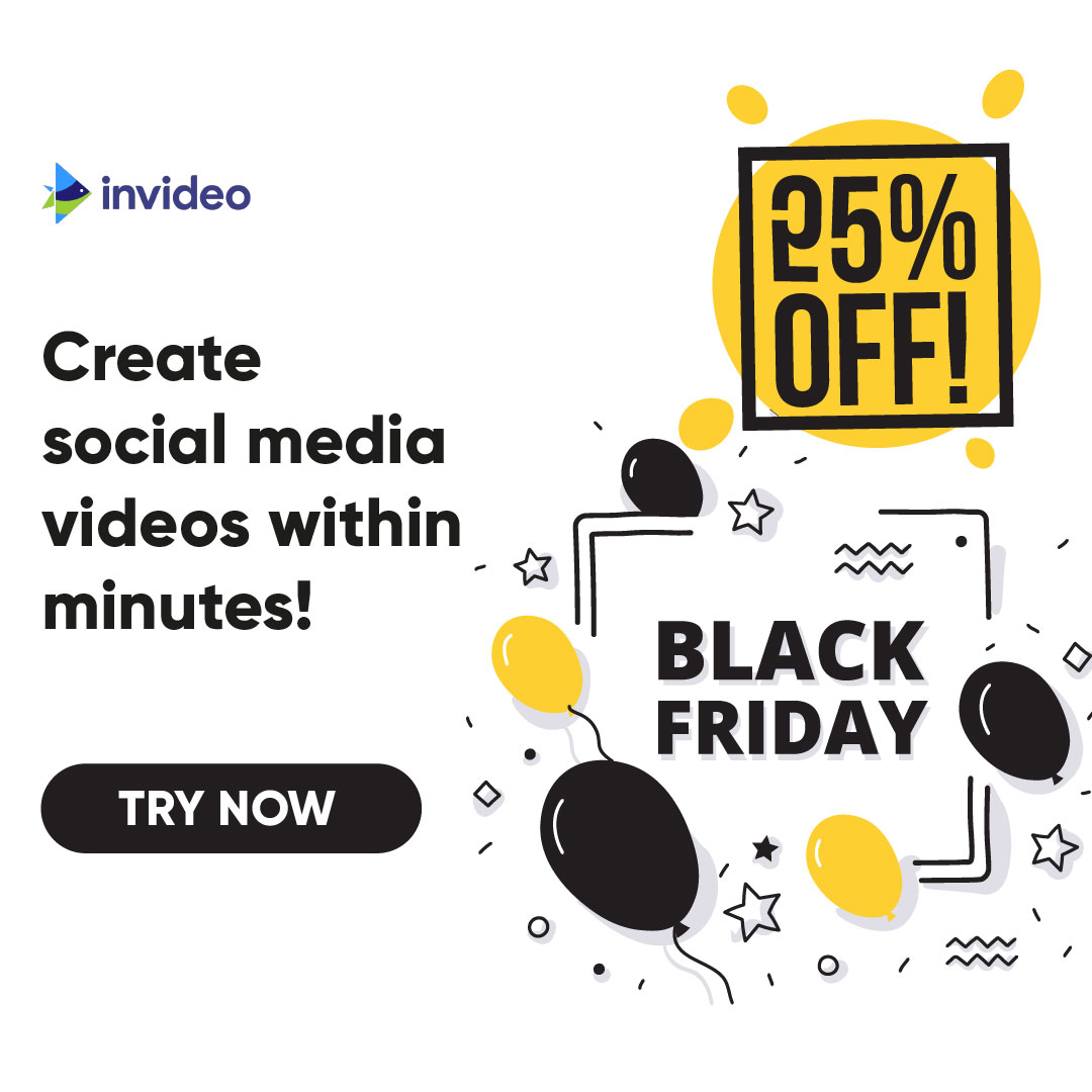 Get 25% OFF on all InVideo plans!
