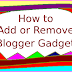 How to Add or Remove a Blogger Gadget