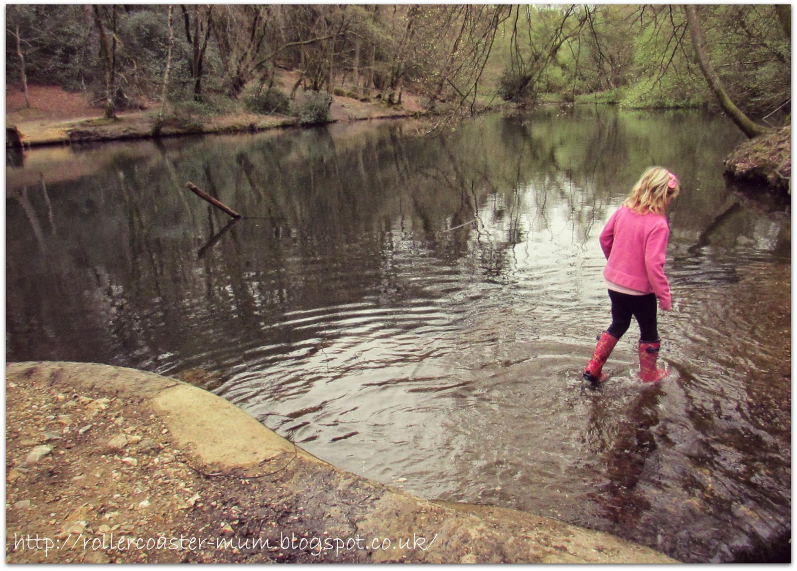 always time for a paddle at National Trust Waggoners Wells