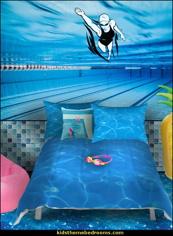 swimming pool bedroom decorating swiming deccorations