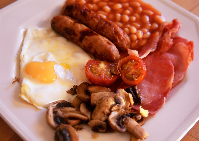 Enjoy an English Breakfast on your cycle trip