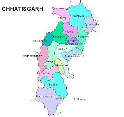 chattisgarh map