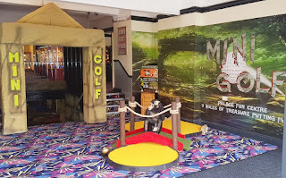Indoor Mini Golf at The Palace Fun Centre in Rhyl, Wales