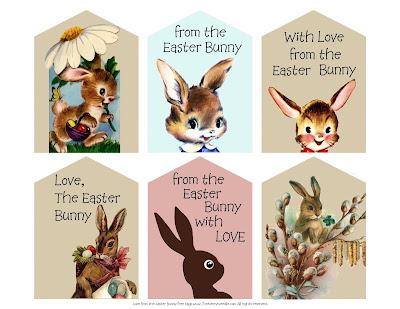 free printable digital easter bunny tags