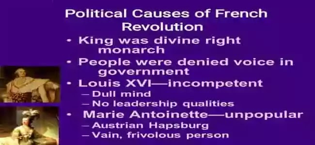 ফরাসি বিপ্লবের রাজনৈতিক কারণ কী ছিল?