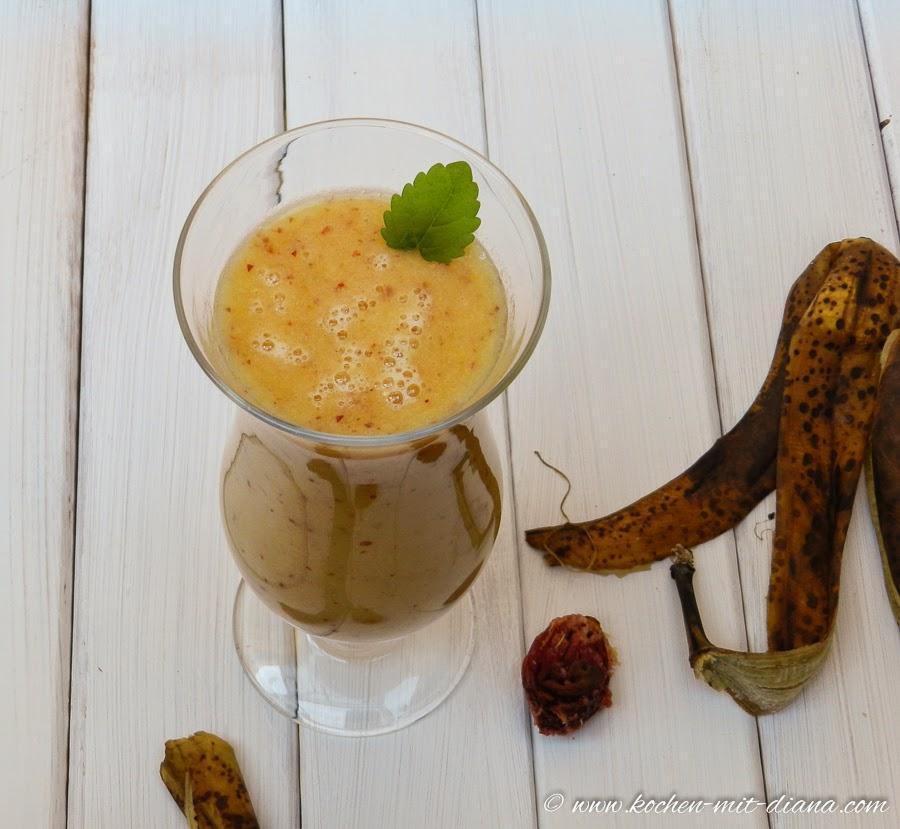 Bananen-Nektarinen Smoothie