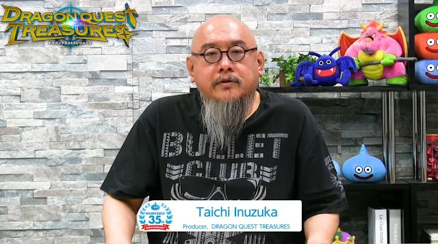 Dragon Quest Treasures producer Taichi Inuzuka Bullet Club shirt Monsters