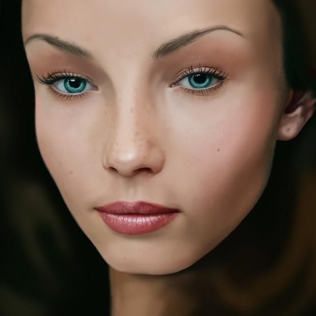 Female Face Sketch