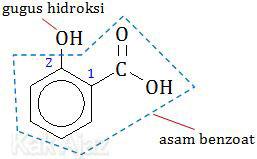 Penamaan turunan benzena yang mempunyai 2 gugus fungsi, orto, meta, para
