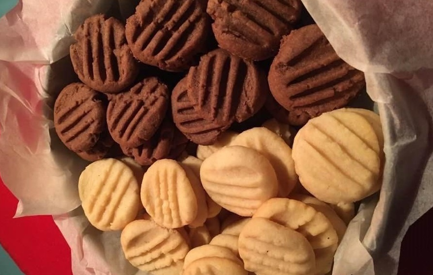 Быстрое песочное печенье из 4-х ингредиентов