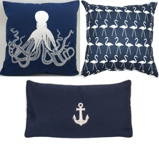 Navy Blue Pillows and Pillow Covers