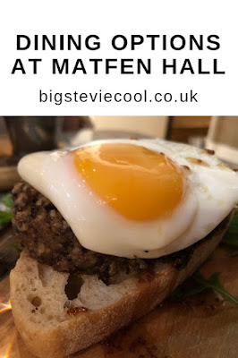 Dining Options at Matfen Hall