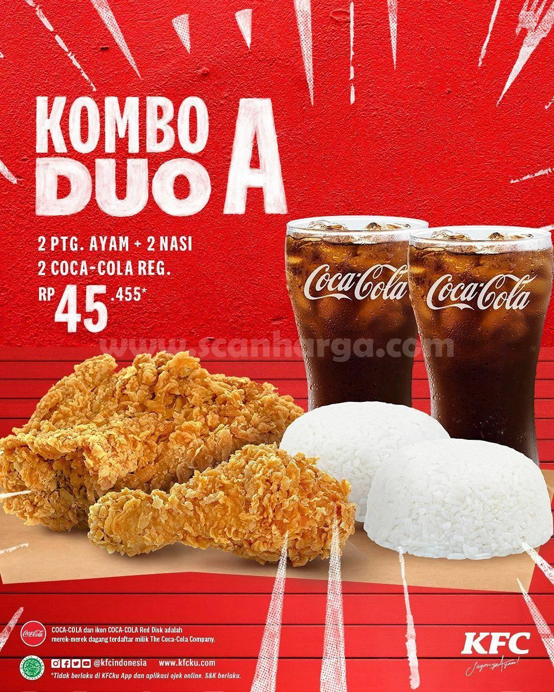 Promo KFC KOMBO DUO Harga Paket CUMA 50 Ribuan 2