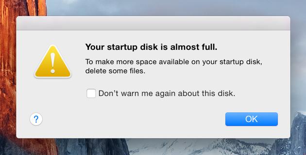 Mac Startup Disk Full