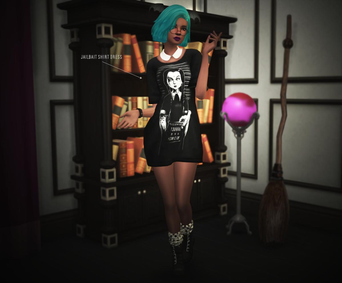 My Sims 4 Blog: Modern Goth Clothing for Females by SlytherSim