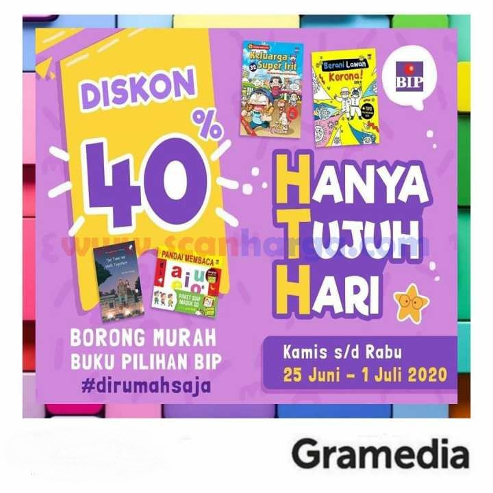 Promo HTH Gramedia Hanya 7 Hari Periode 25 Juni - 1 Juli 2020