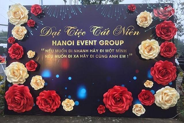 Trang trí tiệc tất niên cuối năm tại Hà Nội
