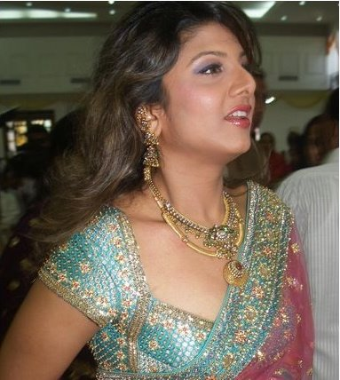 Tollywood Actress Rambha Photos In Pink Saree