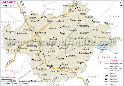 Nagaur Map