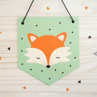 flamula raposinha decoracao festa infantil