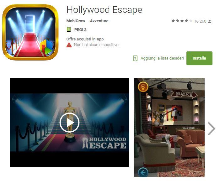 Soluzioni Hollywood Escape di tutti i livelli