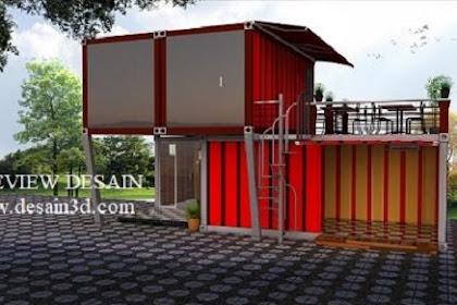 Design cafe container tingkat 3d model