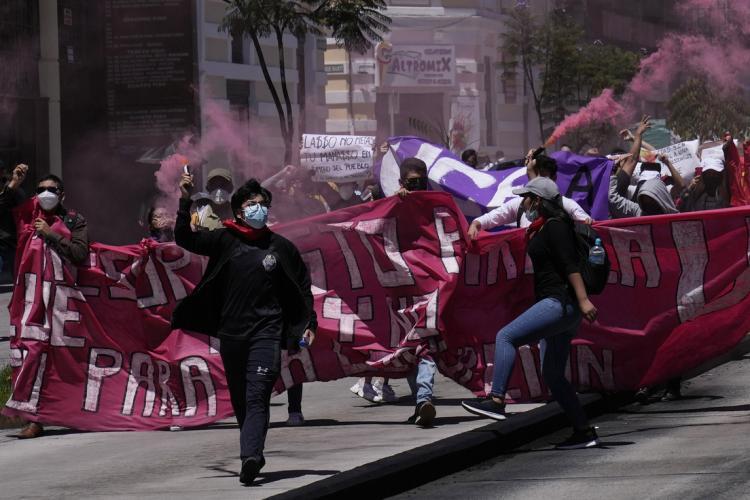 CRECEN PROTESTAS EN ECUADOR: Hoy se registró una nueva movilización de parte de estudiantes y docentes de universidades públicas
