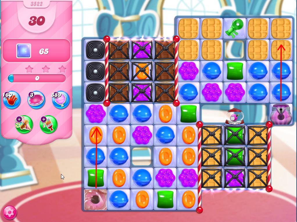 Candy Crush Saga level 3522