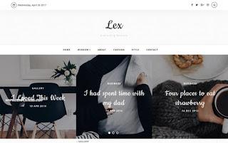 Lex Responsive Blogger Template