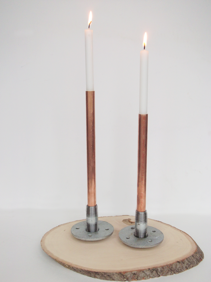 a daily something: diy | industrial candleholder