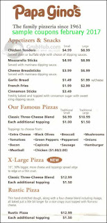 free Papa Gino's coupons february 2017