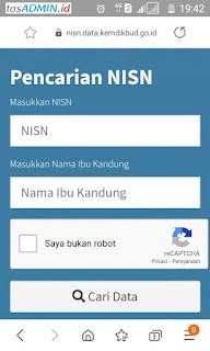 Alamat Verval Individu PD NISN