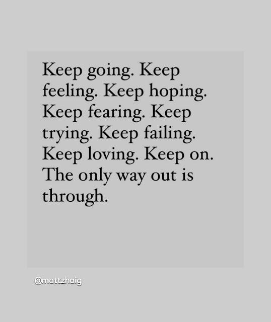 going through
