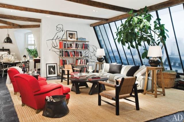 estudio parisino con vistas al sena studio in paris. Black Bedroom Furniture Sets. Home Design Ideas