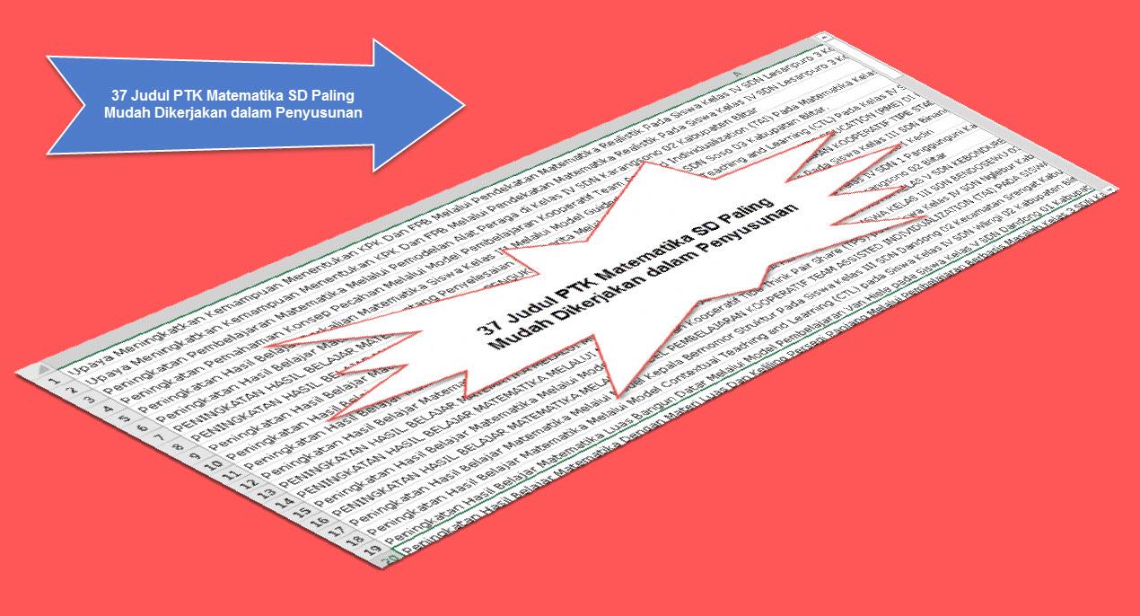 37 Judul PTK Matematika SD Paling Mudah Dikerjakan dalam Penyusunan
