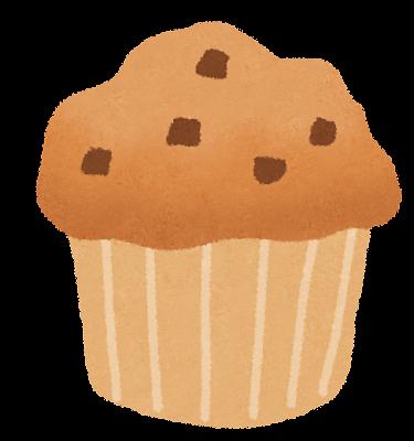 チョコレートマフィンのイラスト