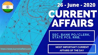 26-June-2020-current-affairs