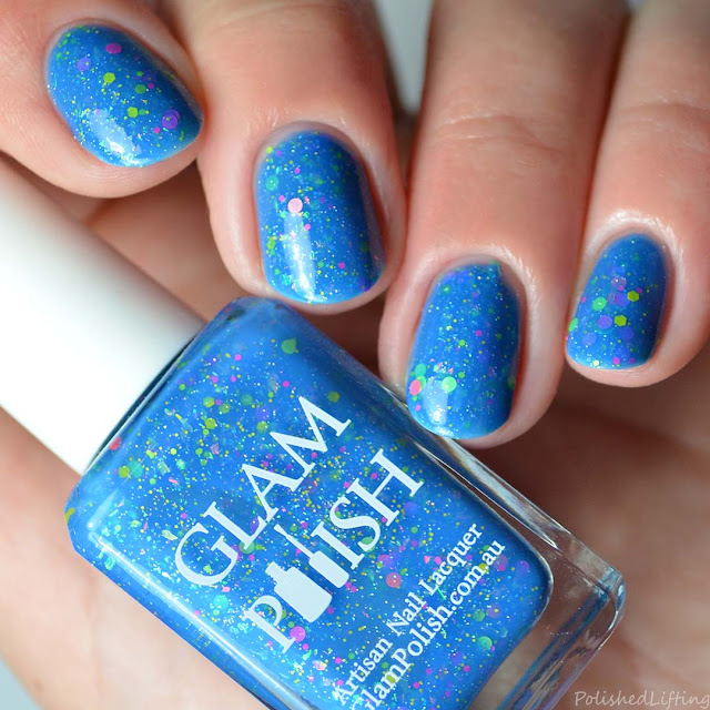 blue jelly nail polish