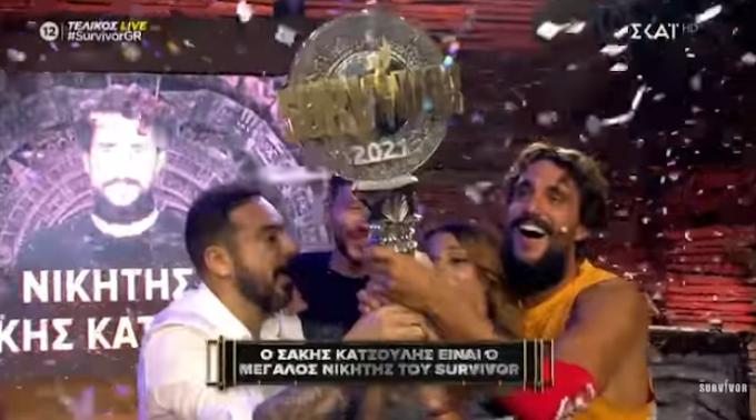 """Μεγάλος νικητής του """"Survivor"""" ο Σάκης Κατσούλης (vid)"""