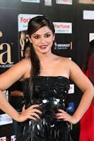 Glamorous Actress Neetu Chandra in Black dress at IIFA Utsavam Awards 2017  HD Exclusive Pics 25.JPG