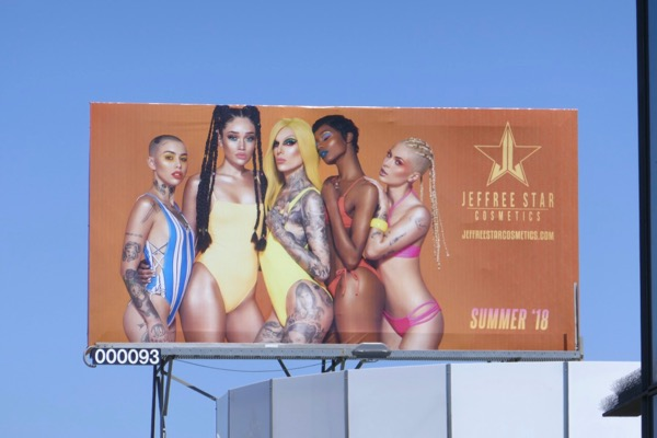 Jeffree Star Cosmetics Summer 2018 billboard