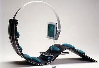 diseño de silla futurista