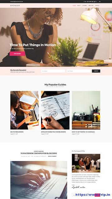 Spencer Blog WordPress Theme Download - Cssigniter Themes