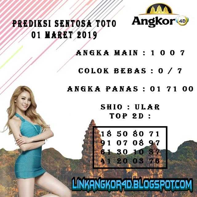 PREDIKSI SENTOSA TOTO 01 MARET 2019