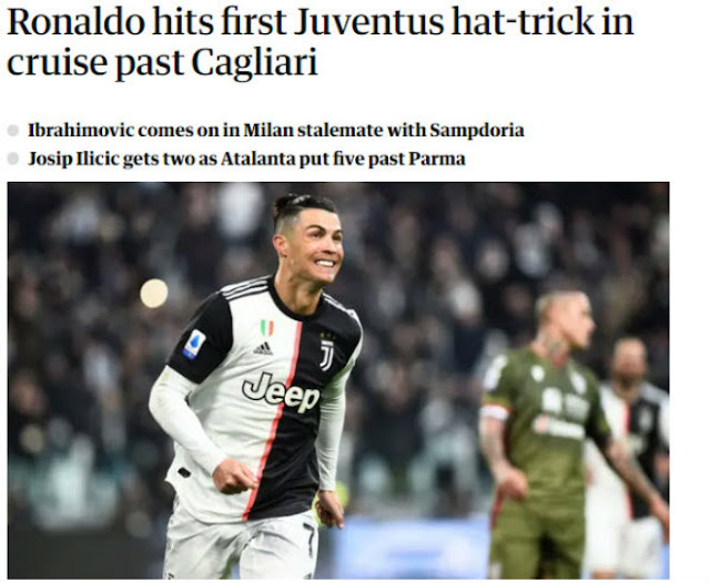 """Ronaldo lập hat-trick phi thường chào 2020: Báo Italia tung hô, ví như """"máy ủi"""" 1"""