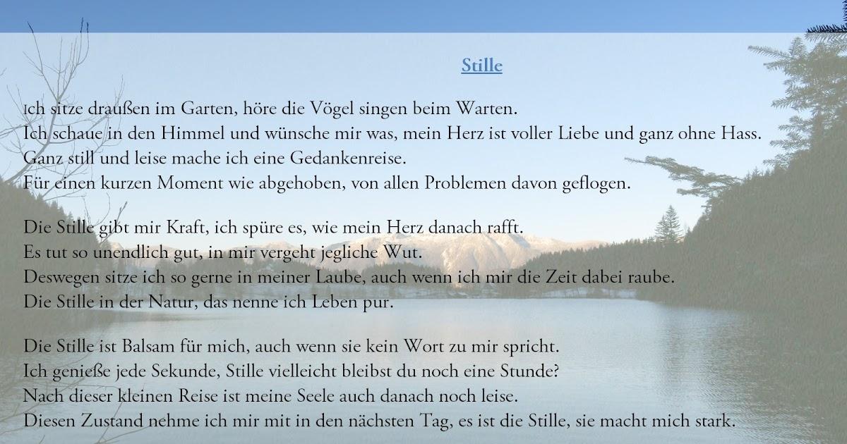 Gedichte Von Nicole Sunitsch Autorin Stille Gedichte Und
