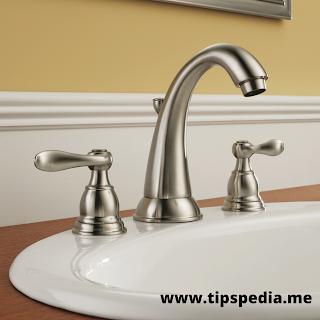 brushed nickel faucet bathroom sink