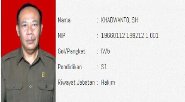 Sosok Khadwanto, Hakim yang Vonis Ha6i6 Ri21eq 4 Tahun Penjara