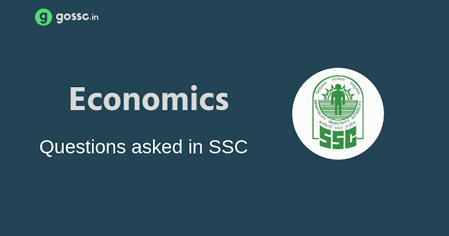 Questions asked in SSC